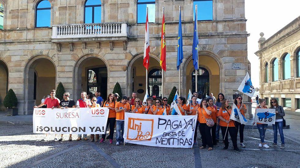 .Protesta del sindicato USO Asturias