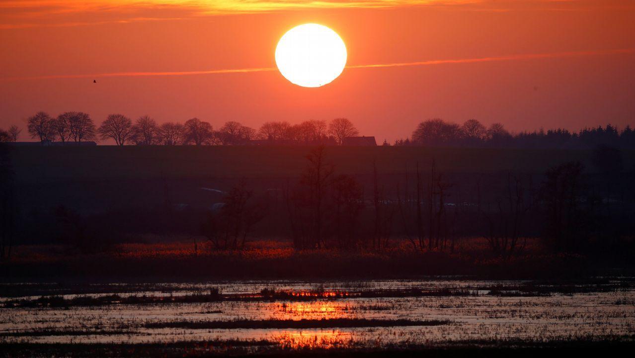 Una puesta de sol en Alemania