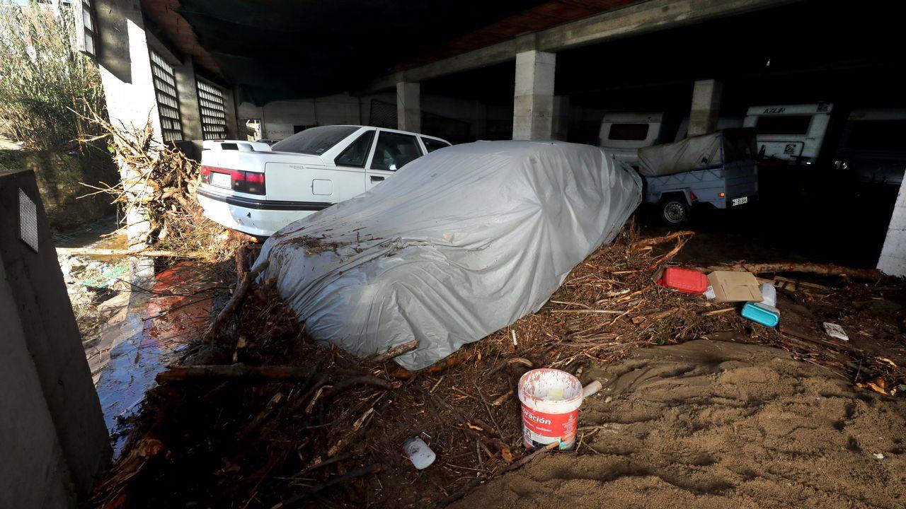 Daños por la riada en Xunqueira (Viveiro)