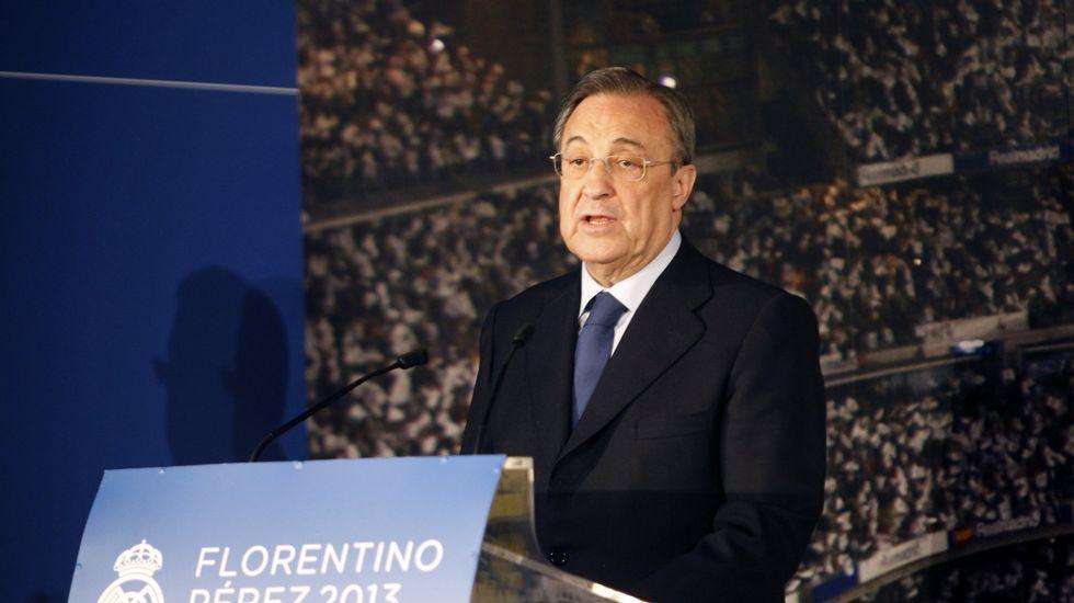 El Real Madrid - Juve en imágenes.Florentino Perez intenta perpetuarse en el cargo