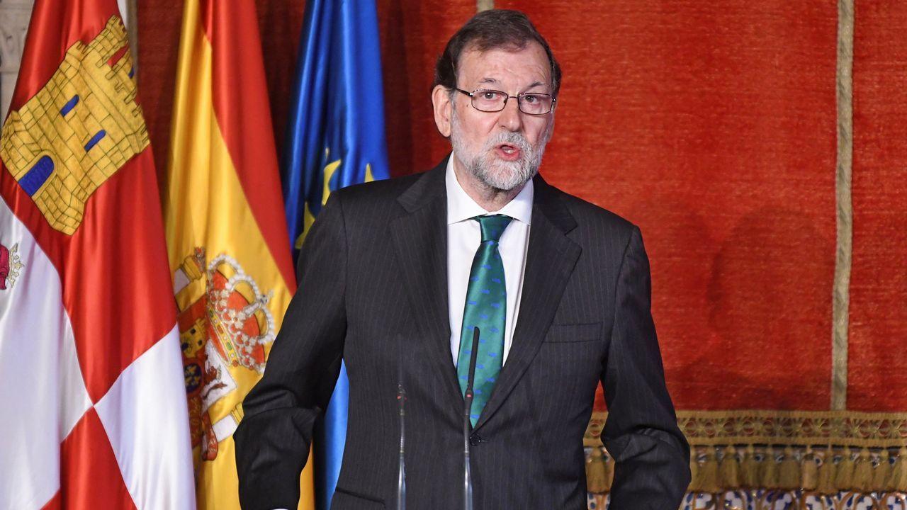 Rivera sobre Cataluña: «Hay que actuar de manera serena, efectiva y clara».Rivera, hoy con Begoña Villacís en la pradera de San Isidro