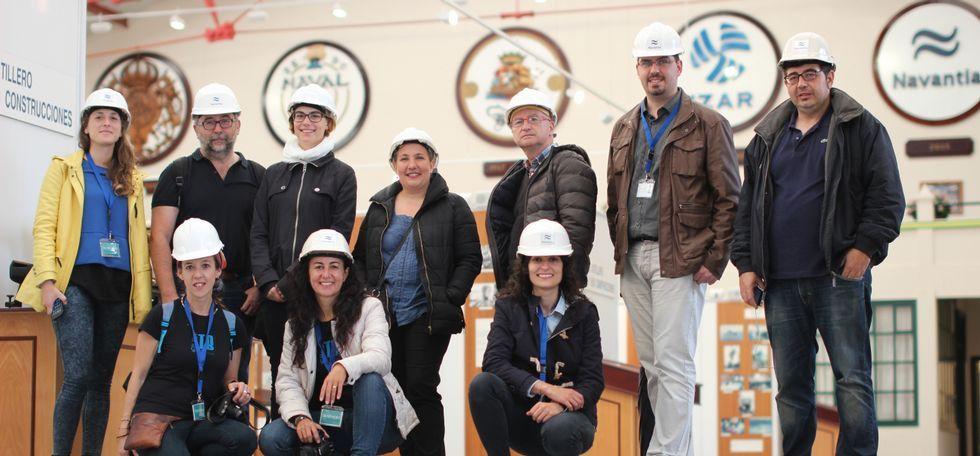 El pasado domingo, el grupo se adentró en las instalaciones de Navantia Ferrol.