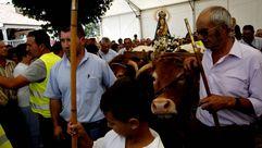 A Franqueira reúne miles de romeros en A Cañiza
