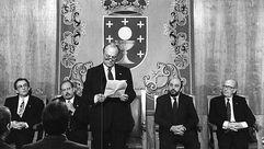 Veinticinco años de la triunfal toma de posesión de Fraga en el Obradoiro