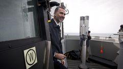 Visita del Rey a la fragata ferrolana «Cristóbal Colón»