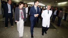 Visita de Alberto Nuñez Feijoo y Rocío Mosquera al Hospital de O Salnés