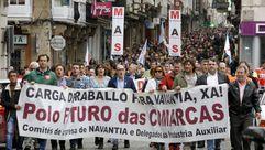 La manifestación por el naval en Ferrol