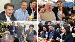 Políticos á feira en Santiago