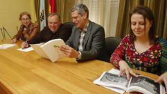 Los promotores del curso visitaron el Concello larachés