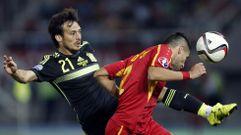 El Macedonia-España, en fotos