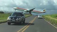 Impresionante aterrizaje de un avión de Iberia en Costa Rica