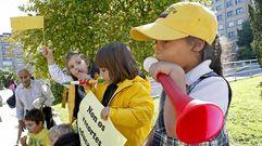 Barcelos protesta de amarillo