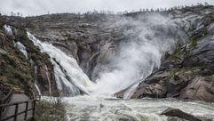La cascada de O Ézaro en todo su esplendor
