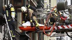 Un bombero fallece en el centro de Oviedo tras el incendio de un edificio del siglo XIX