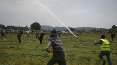 Jornada de enfrentamientos en Idomeni