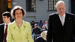 El rey Juan Carlos y la reina Sofía, juntos en el cumpleaños de Gustavo de Suecia