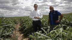 Rajoy: «Este campo de alcachofas realmente me emociona»