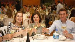 Soraya Sáenz de Santamaría visita la Bodega Martín Codax en una comida mitín