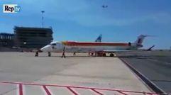 Problemas de un avión de Iberia para salir de Italia a Vigo