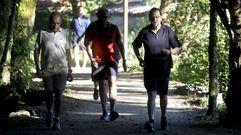 La tradicional caminata de Rajoy por su ruta preferida