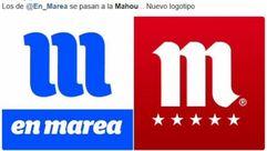 El parecido razonable del nuevo logo de En Marea