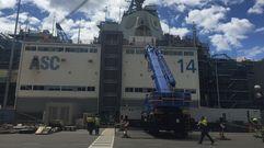 Así es el astillero australiano en donde se construyen los destructores basados en las F-100