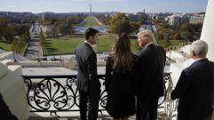 Primera vista de Trump a la Casa Blanca y al Capitolio
