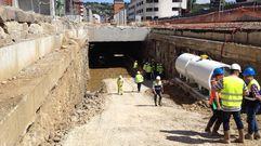 Obras de soterramiento de Feve en Langreo