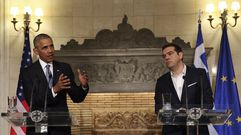Obama se reúne con Tsipras en Atenas