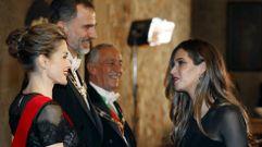 Sara Carbonero e Iker Casillas, en la cena de gala de los reyes enPortugal