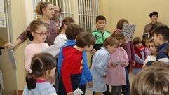 Los profesores y alumnos del colegio Canosa Rus celebraron el Día Universal de los Derechos Humanos