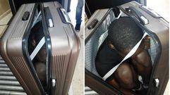 Un joven de 19 años trata de entrar en Ceuta dentro de una maleta