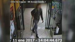 Así actuó el asaltante del supermercado