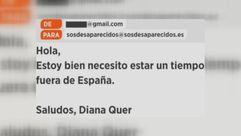 ¿Cómo se suplantó la identidad de Diana Quer en un correo electrónico?