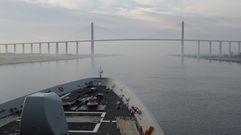 Las espectaculares estampas de la «Cristóbal Colón»en su navegación por el canal de Suez