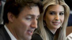 Las comentadas miradas de Ivanka Trump a Justin Trudeau