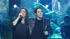 Canco Rodríguez y Adrián Lastra cantan «Cuando los ángeles lloran»