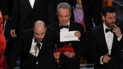 Confusión al anunciar la mejor película de los Óscar