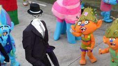 Imaxes do desfile de comparsas en Ferreira de Pantón