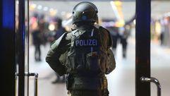 La policía toma la estación de tren de Düsseldorf