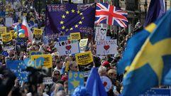 Miles de personas se manifiestan en Londres contra el «brexit»