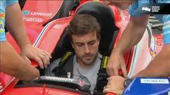Fernando Alonso realiza su primera toma de contacto con la Indy Car