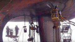 El proceso de reparación de un buque
