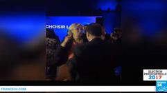 Así bailó un «rock» Marine Le Pen trasla derrota electoral