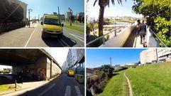 La odisea de salir de A Coruña en bicicleta