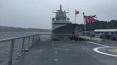 La Voz a bordo de una de las fragatas noruegas construidas en Ferrol