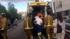 Accidente de tráfico en la N-120 en Ourense