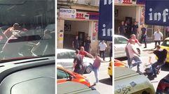 Trifulca de tráfico en el centro de Ourense
