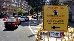 Cierre al tráfico del túnel de Gregorio Espino
