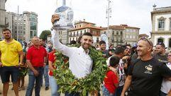 Las imágenes de la entrega de trofeos de la Subida Cidade de Pontevedra de Automovilismo